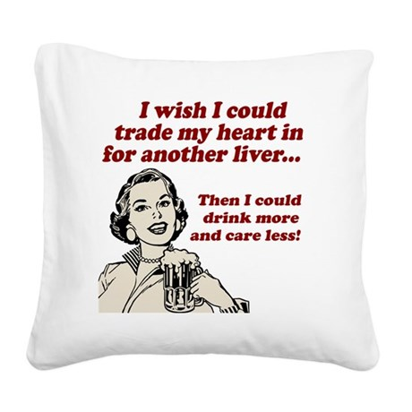 I Wish Square Canvas Pillow
