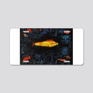 Paul Klee Goldfish Aluminum License Plate