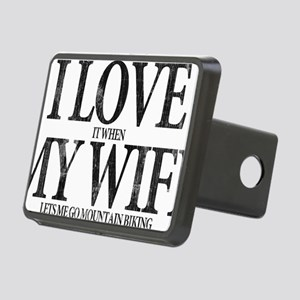 I Love My Wife Rectangular Hitch Cover