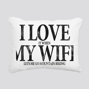 I Love My Wife Rectangular Canvas Pillow
