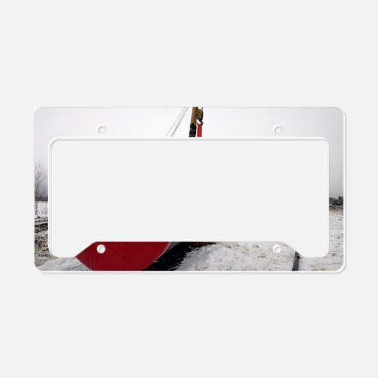 Laying a gas pipe License Plate Holder