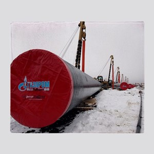 Laying a gas pipe Throw Blanket