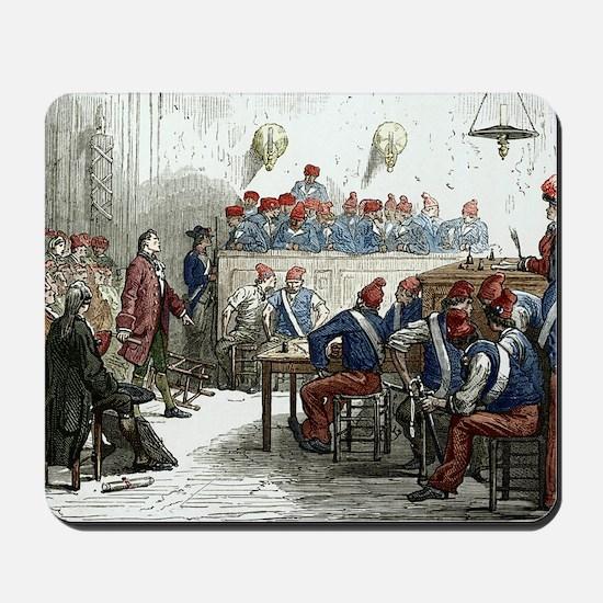 Lavoisier's trial, 1794 Mousepad