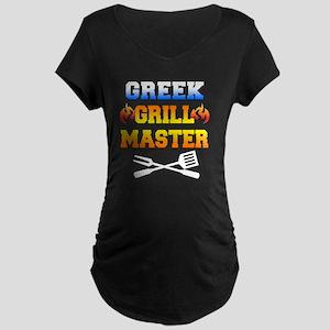 Greek Grill Master Dark Apr Maternity Dark T-Shirt