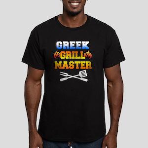 Greek Grill Master Dar Men's Fitted T-Shirt (dark)