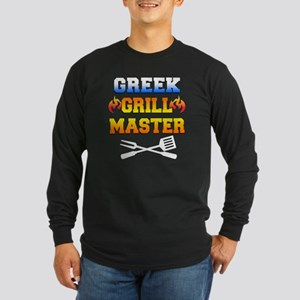 Greek Grill Master Dark A Long Sleeve Dark T-Shirt