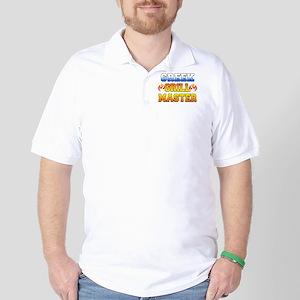 Greek Grill Master Dark Apron Golf Shirt