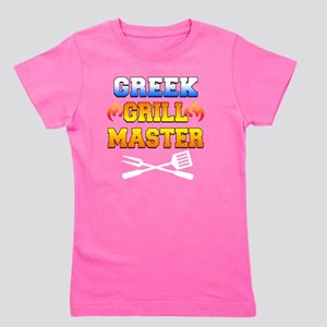 Greek Grill Master Dark Apron Girl's Tee
