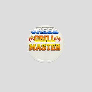 Greek Grill Master Dark Apron Mini Button