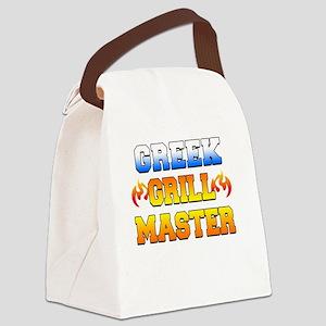 Greek Grill Master Dark Apron Canvas Lunch Bag