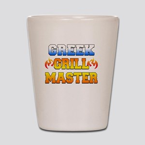 Greek Grill Master Dark Apron Shot Glass