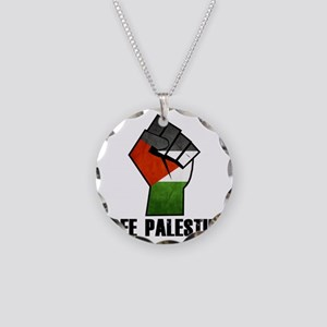 Free Palestine Necklace Circle Charm