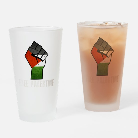 Free Palestine White Drinking Glass