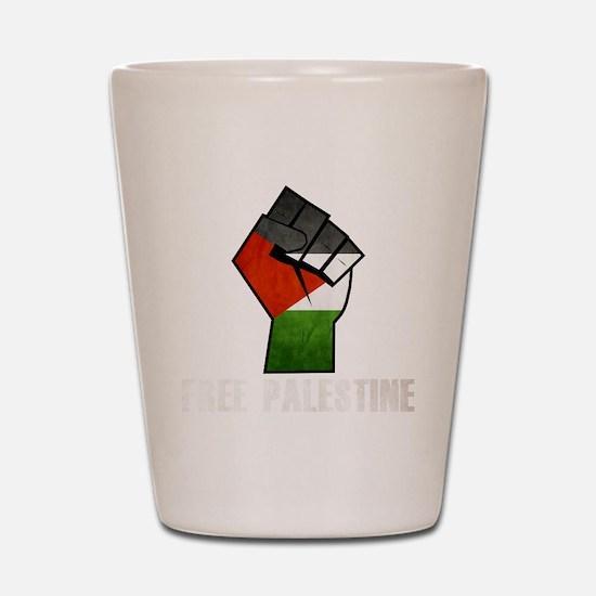 Free Palestine White Shot Glass