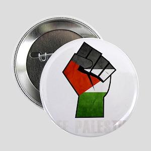 "Free Palestine White 2.25"" Button"
