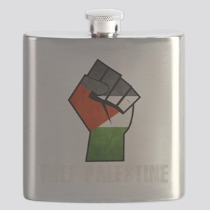 Free Palestine White Flask