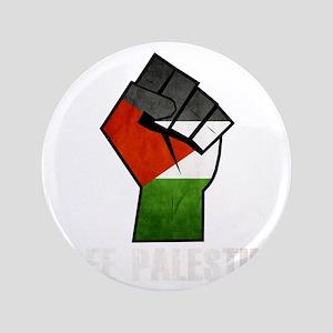 "Free Palestine White 3.5"" Button"