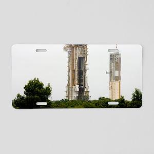 Launch pad, Guiana Space Ce Aluminum License Plate
