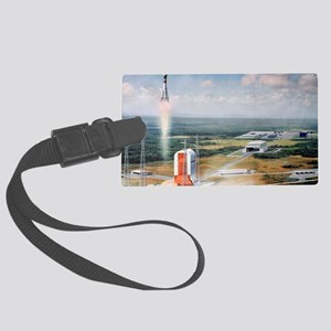Launch pad model, Guiana Space C Large Luggage Tag