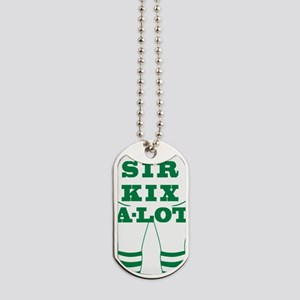 SKA LOGO OUT  GREEN Dog Tags