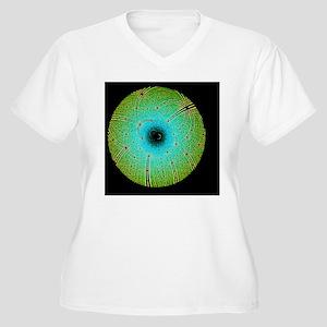 Laue diffraction  Women's Plus Size V-Neck T-Shirt