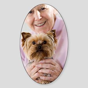 Lap dog Sticker (Oval)