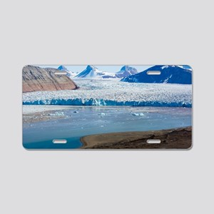 Kongsvegen glacier Aluminum License Plate