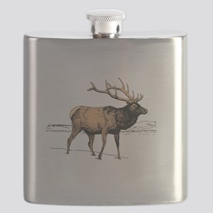 Canadian Elk Flask
