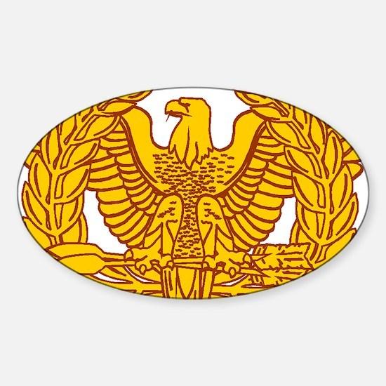 warrant officer eagle Sticker (Oval)