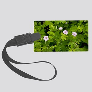 Knotted cranesbill (Geranium nod Large Luggage Tag