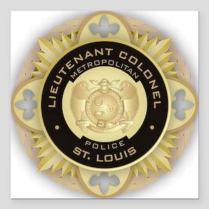 """Lieutenant Colonel Square Car Magnet 3"""" x 3"""""""