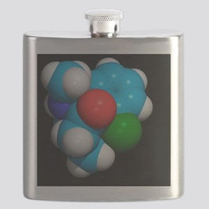 Ketamine molecule, recreational drug Flask