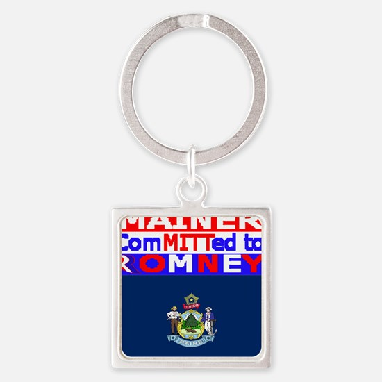 maineromneyflag Square Keychain