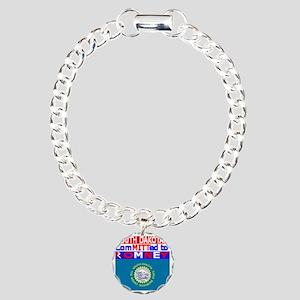 southdakotaromneyflag Charm Bracelet, One Charm