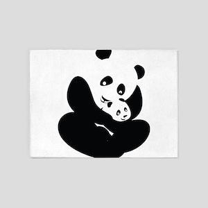 Panda Cuddles 5'x7'Area Rug