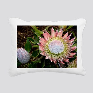 King protea (Protea cyna Rectangular Canvas Pillow