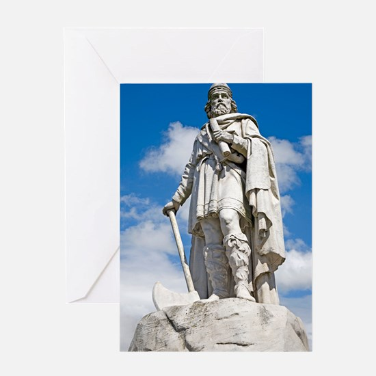 King Alfred the Great of England Greeting Card