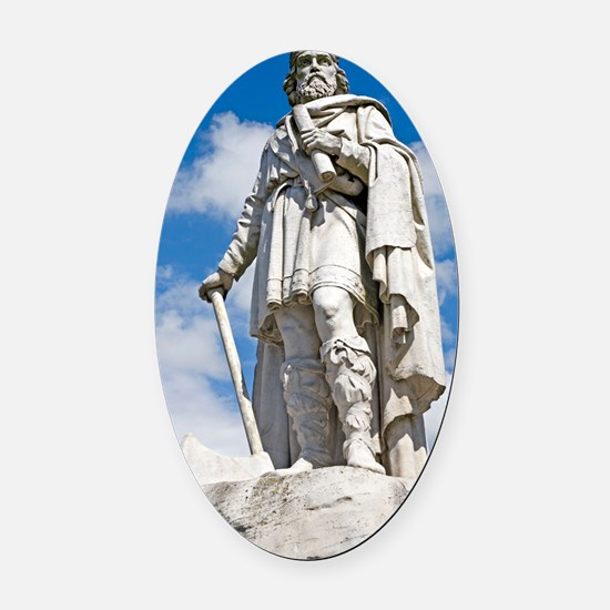 King Alfred the Great of England Oval Car Magnet