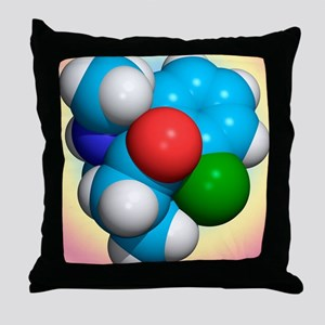 Ketamine molecule, recreational drug Throw Pillow
