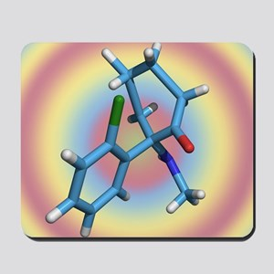 Ketamine molecule, recreational drug Mousepad