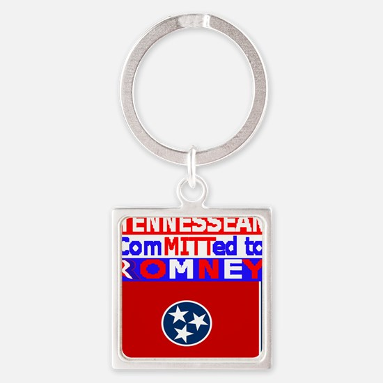 tennesseeromneyflag Square Keychain