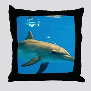 Juvenile Atlantic spotted dolphin Throw Pillow