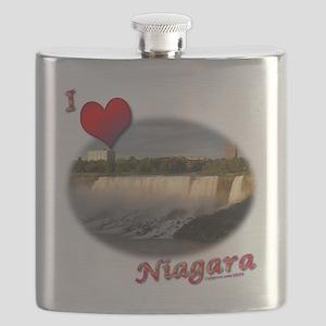 I Love Niagara Flask