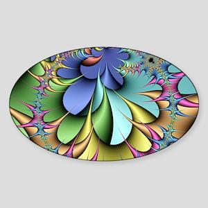 Julia fractal Sticker (Oval)