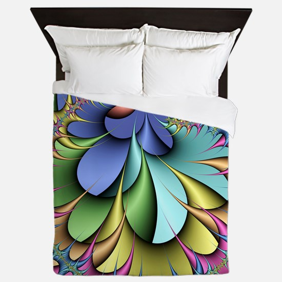 Julia fractal Queen Duvet