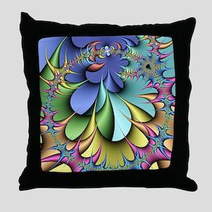 Julia fractal Throw Pillow