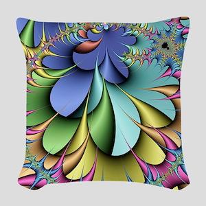 Julia fractal Woven Throw Pillow