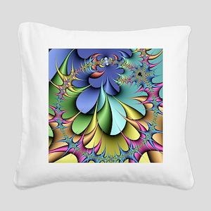 Julia fractal Square Canvas Pillow