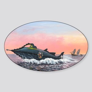 Jules Verne's Nautilus submarine, a Sticker (Oval)