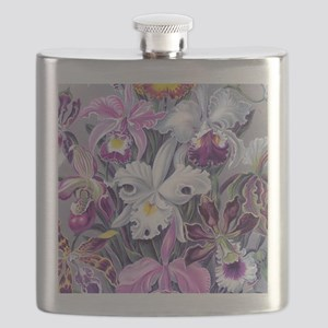 19th C Vintage Orchid Painting Flask